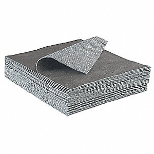 "18"" x 16"" Light Absorbent Pad for Universal/Maintenance, Gray, 200PK"