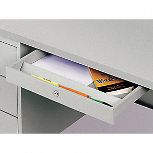 Lap Drawer,19-1/2x1-7/8x16-1/2 In,Gray