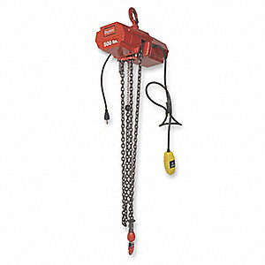 H2 Electric Chain Hoist, 800 lb. Load Capacity, 115V, 10 ft. Hoist Lift, 7 fpm