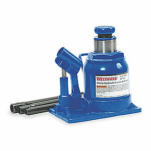 "7-3/4"" x 5"" Low-Profile In-Line Pump   Hydraulic Bottle Jack with 20 tons Lifting Capacity"