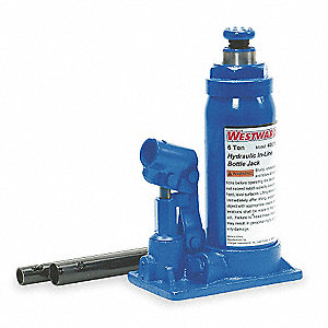 "5-3/4"" x 3-1/2"" In-Line Pump   Hydraulic Bottle Jack with 6 tons Lifting Capacity"