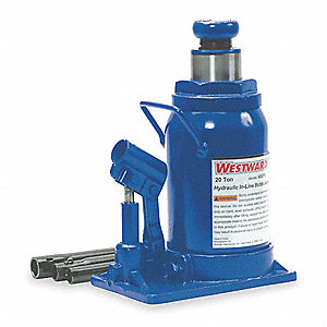 "7-3/4"" x 5"" In-Line Pump   Hydraulic Bottle Jack with 20 tons Lifting Capacity"