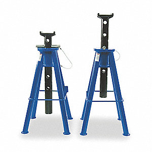 16-1/8 x 16-1/8 Vehicle Stand; Lifting Capacity (Tons): 10 (Per Pair), 2 PK