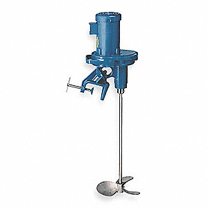Mixer,Tank,1/2 HP,350RPM,3/4In Dia