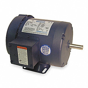 1 HP 50 Hz Motor,3-Phase,2850 Nameplate RPM,220/380/440 Voltage,Frame 56
