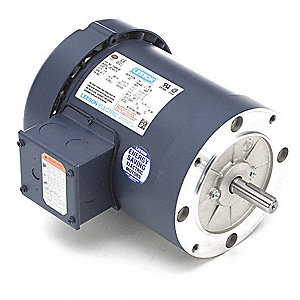 1 HP 50 Hz Motor,3-Phase,1425 Nameplate RPM,220/380/440 Voltage,Frame 56C