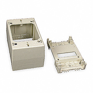 PVC Deep Device Box For Use With 400, 800 and 2300 Raceways, Ivory