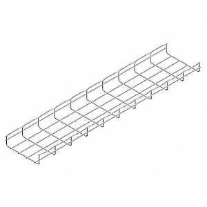 10 ft. Steel Wire Mesh Cable Tray, 20.16 lb. per 6 ft. Section Capacity