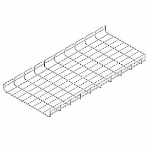 10 ft. Steel Wire Mesh Cable Tray, 51.86 lb. per 6 ft. Section Capacity