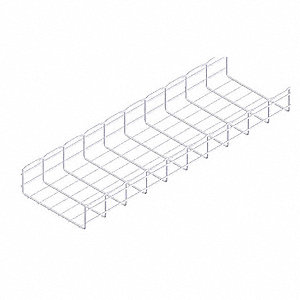 10 ft. Steel Wire Mesh Cable Tray, 64.93 lb. per 6 ft. Section Capacity