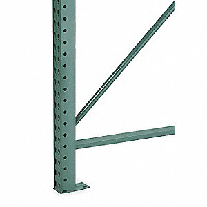 "Roll Formed Teardrop Upright Frame 216""H x 3""W x 42""D"
