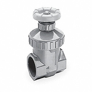 "FNPT Gate Valve, Inlet to Outlet Length: 2-13/16"", Pipe Size: 3/4"", Max. Fluid Temp.: 200°F"