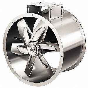 "24"" Hazardous Location, 3-Phase Tubeaxial Fan with Motor and Drive Package, 208-230/460V, 1062 Fan R"
