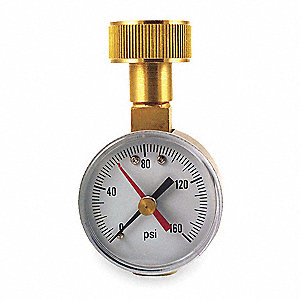 "2"" General Purpose Pressure Gauge, 0 to 160 psi"