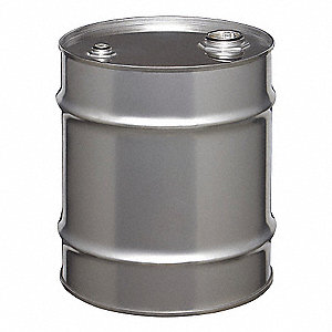 Transport Drum,Closed Head,8 gal.,Silver