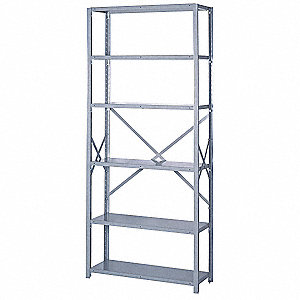 "36"" x 24"" x 84"" Starter Steel Shelving Unit, Dove Gray"