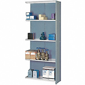 "36"" x 12"" x 84"" Add-On Steel Shelving Unit, Dove Gray"