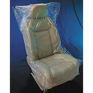 "32"" x 56"" Plastic Seat Cover, Roll, Clear&#x3b; PK250"