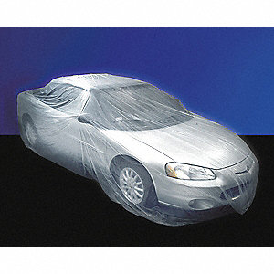 "13-3/5"" x 25 ft. Plastic Car Cover, Large, Roll, Clear&#x3b; PK30"