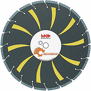 "16"" Dry Diamond Saw Blade, Segmented Rim Type"