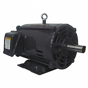 5 HP General Purpose Motor,3-Phase,1165 Nameplate RPM,Voltage 208-230/460,Frame 213/5T