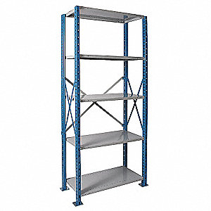 Shelving,Open,Starter,Steel,87""