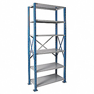 "Metal Shlving,Open,Starter,123""H,6 Shelf"