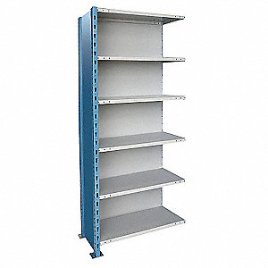 "Metal Shlving,Closed,Add-On,87""H,6 Shelf"