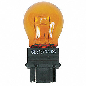 Trade Number 4157NA, 29 Watts Miniature Incandescent Bulb, S8, Plastic Wedge Double Filament (W2.5x1
