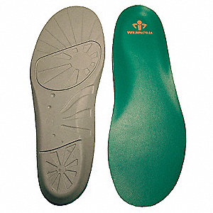 Unisex Anti-Fatigue Molded Insole, Size: Men 9 to 10-1/2, Women 11 to 12-1/2