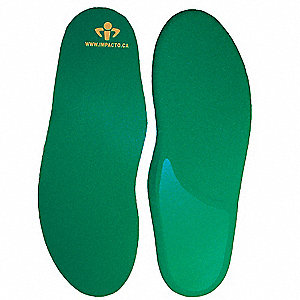 Unisex Anti-Fatigue Flat Insole, Size: Men 3 to 4-1/2, Women 5 to 6-1/2