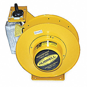 600VAC Heavy Industrial Retractable Cord Reel; Number of Outlets: 0, Cord Included: Yes