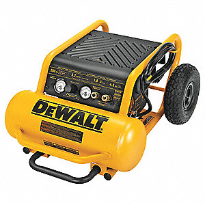 1.60 HP, 115VAC, 4.5 gal. Portable Electric Oil-Free Air Compressor, 200 psi
