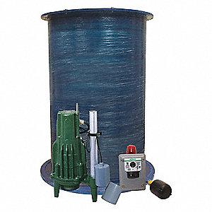 Zoeller Grinder Pump System 1 Number Of Pumps 2 Hp