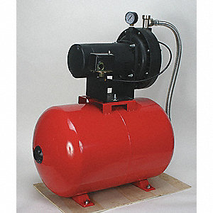 "3/4 HP Convertible Jet Pump System, 10.8/5.5 Amps, 1 1/4"" NPT Inlet, 1"" NPT Outlet"