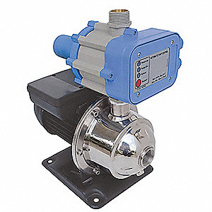 Stainless Steel 1 HP Constant Pressure Booster System, 1 Phase, 115 Voltage