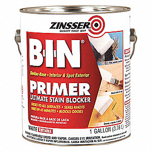 1 gal. Interior and Spot Exterior Use Primer/Sealer Stain Killer Covers 500 sq. ft./gal., White