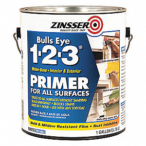 1 gal. Interior/Exterior Stain Blocking Primer/Sealer Covers 350 to 450 sq. ft./gal., White