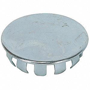 Hole Plug, Steel, Zinc, 11/16 In, PK25