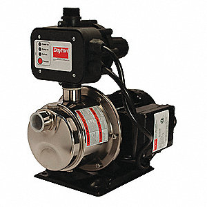 "3/4 HP Automatic Booster Pump, 7.2 Amps, 1"" NPT Inlet, 1"" NPT Outlet"