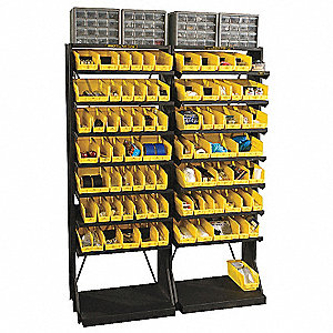 "Pick Rack,67-3/4"" H,143 Bins,Yllow"
