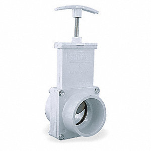 GATE VALVE,2 IN,MIPT CONNECTION,PVC