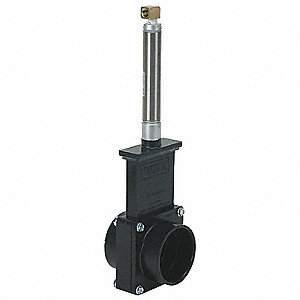 "Class 125 Slip Gate Valve, Inlet to Outlet Length: 3-1/8"", Pipe Size: 2"", Max. Fluid Temp.: 205°F"
