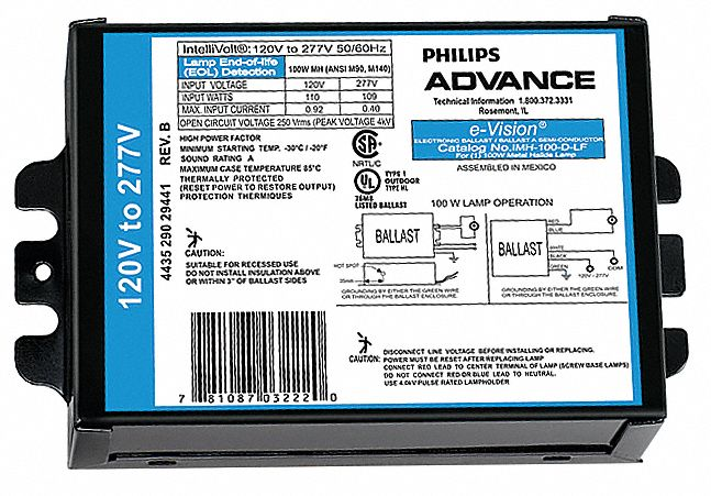 Advance IMH-100-D-LF Electronic Metal Halide Ballast 100W M90 C90 M140 C191 Lamp