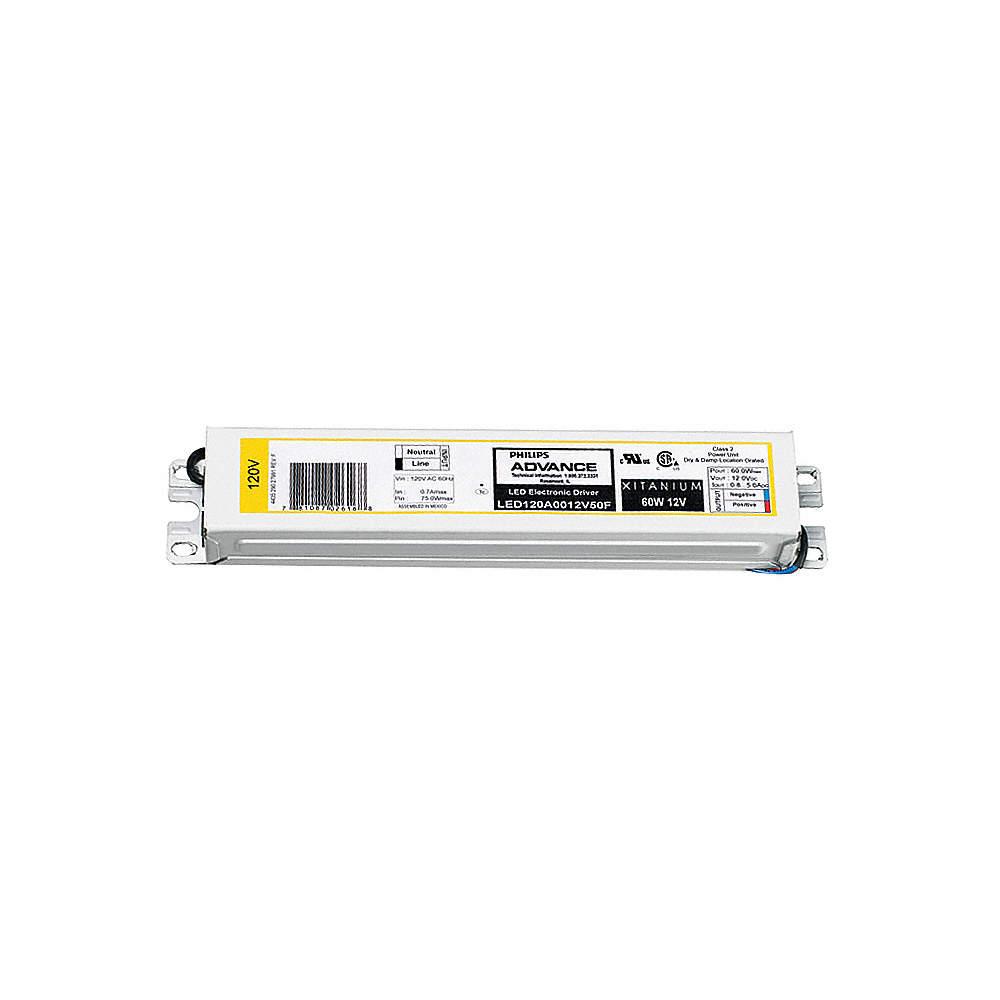 PHILIPS ADVANCE LED120A0012V50F LED Driver,12 V,10-60 W
