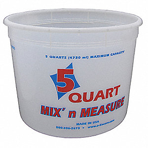 Paint Mix And Measure Cont.,5 qt,Plastic