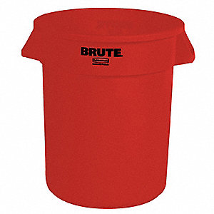 10 gal. Round Red Utility Container