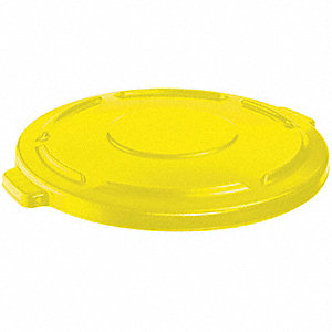 BRUTE® Round Flat Top Trash Can Top for 55 gal., Yellow