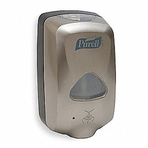 Hand Sanitizer Dispenser,1200mL,Metallic