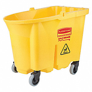 35 qt. Yellow Polypropylene Mop Bucket, 1  EA